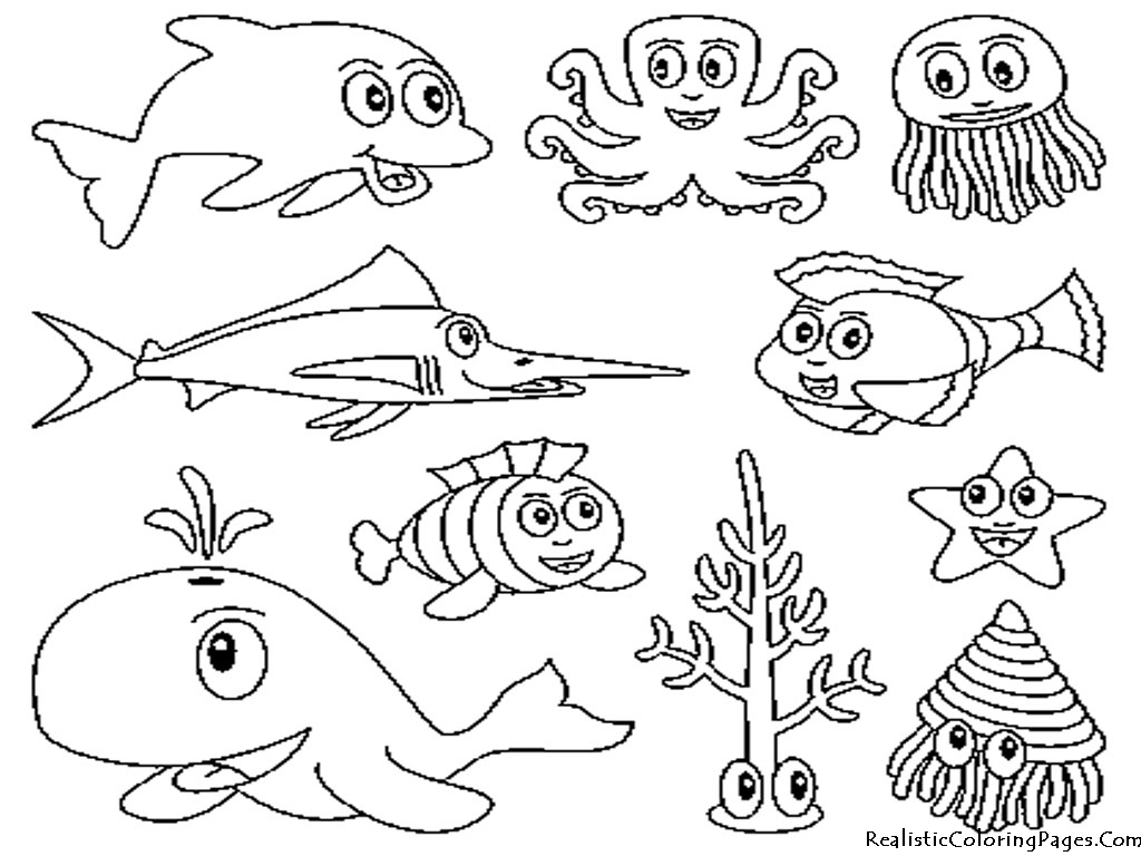 Sea Monster Coloring Pages Lovely Sea Creature Coloring Pages With Additional Line Drawings