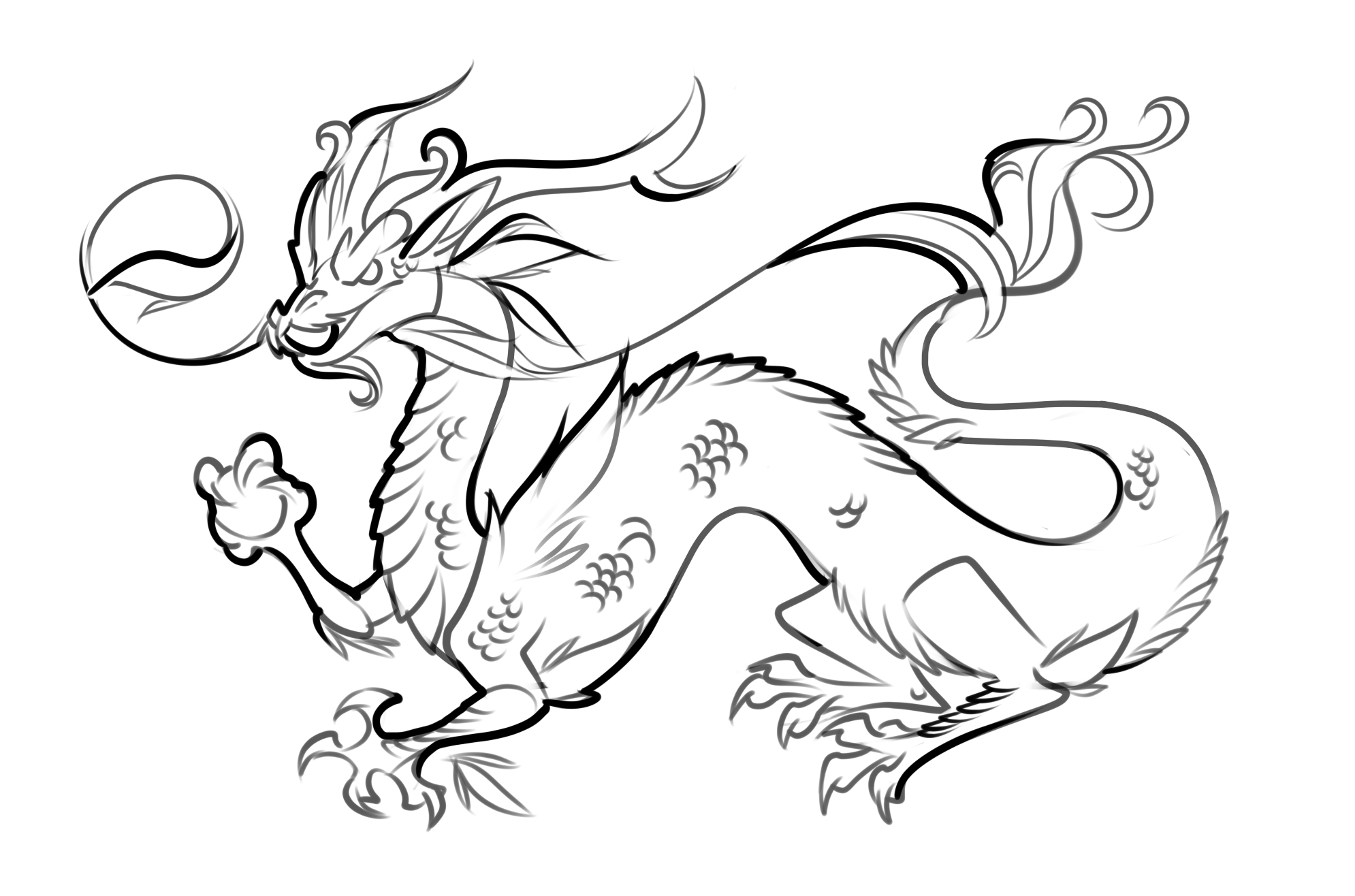 Sea Monster Coloring Pages Printable Dragon Coloring Pages Printable Coloring Page For Kids