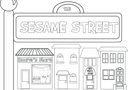 Sesame Street Sign Coloring Page Coloring Pages Road Sign Coloringes Street Traffic Signal Sheet