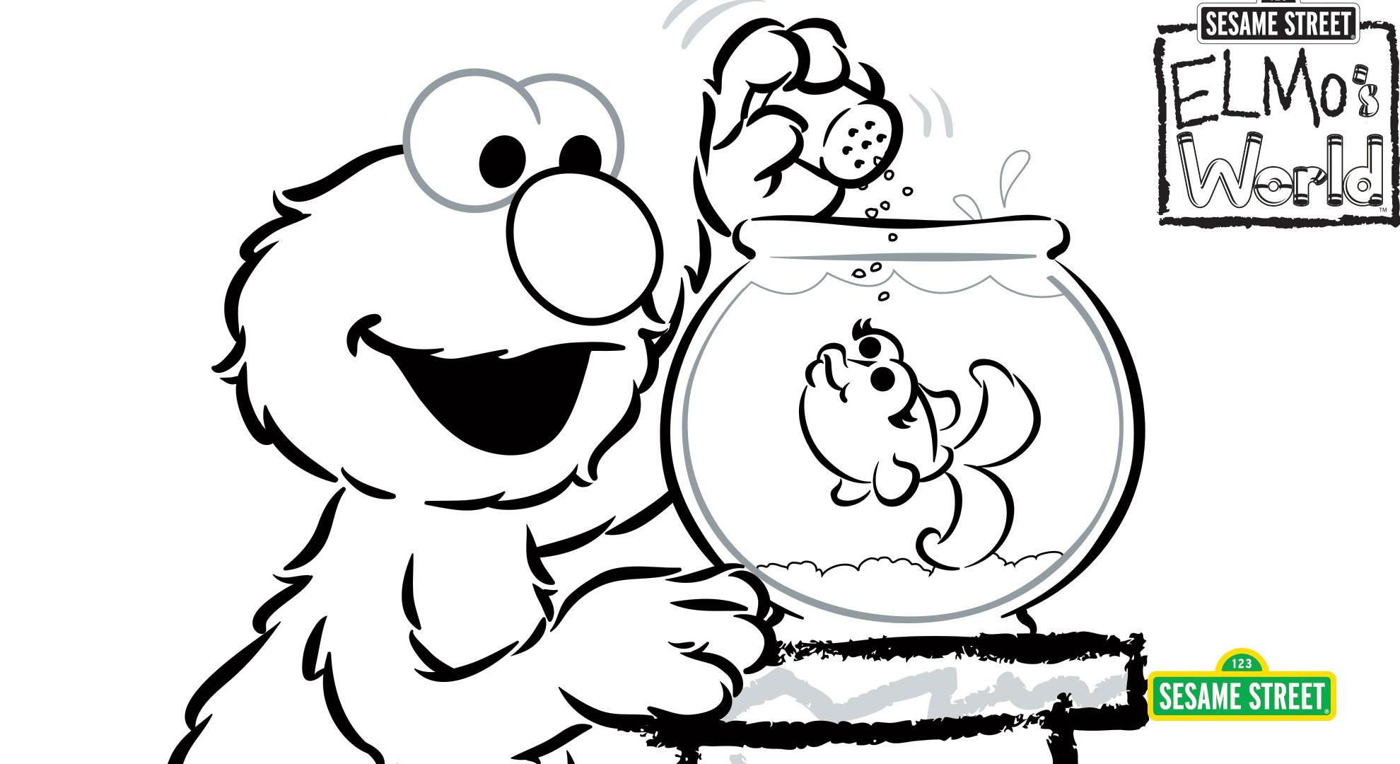 Sesame Street Sign Coloring Page Elmos World Coloring Page Printable Sesame Street Pbs Learningmedia