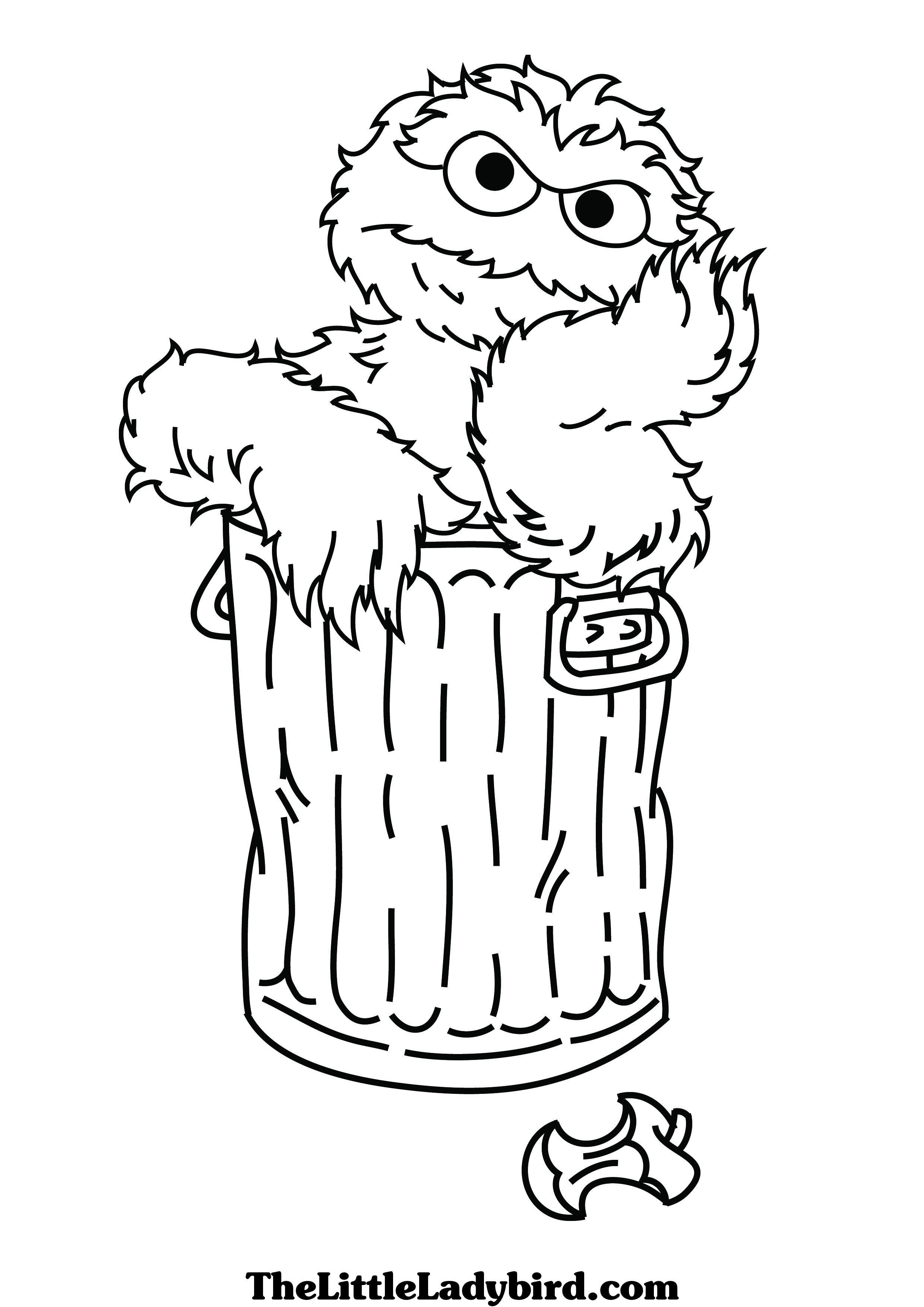 Sesame Street Sign Coloring Page Free Sesame Street Oscar Coloring Page Thelittleladybird