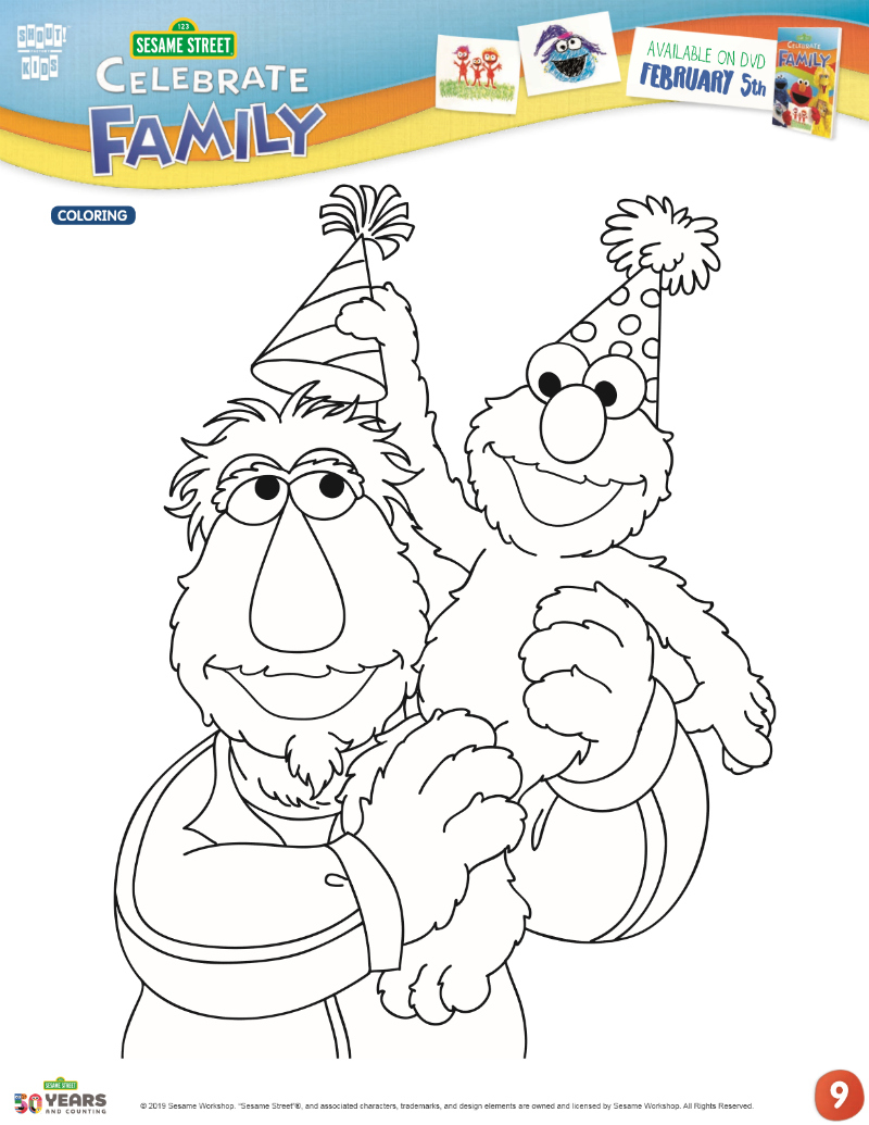Sesame Street Sign Coloring Page Full Sesame Street Birthday Coloring Page Mama Likes This