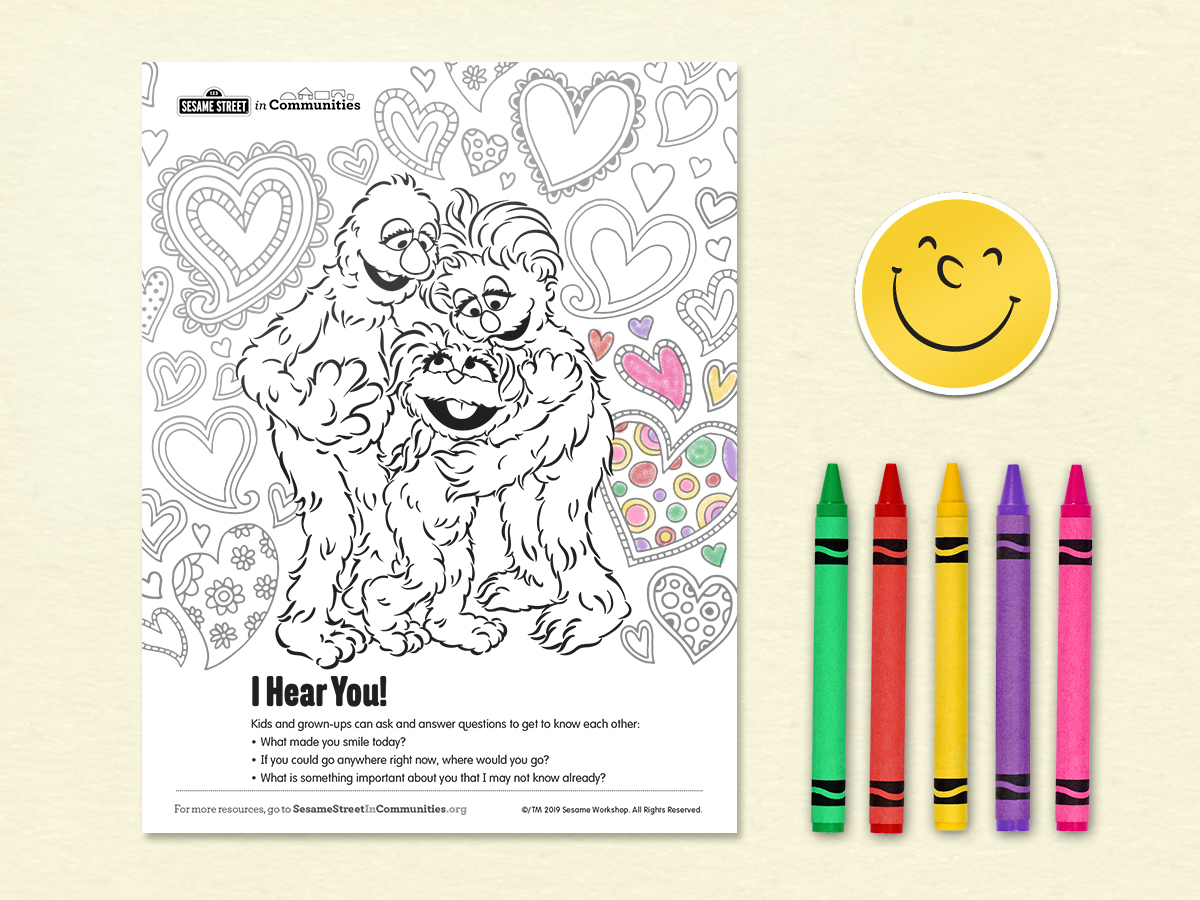 Sesame Street Sign Coloring Page I Hear You Sesame Street In Communities Sesame Street In