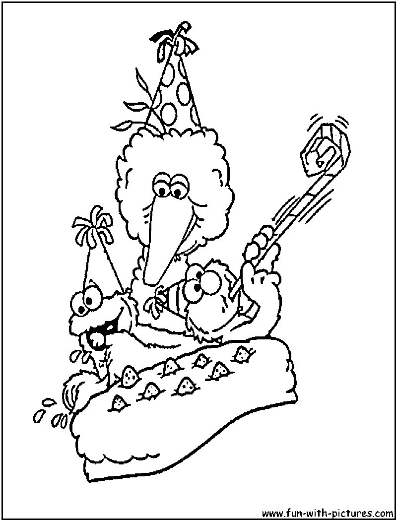 Sesame Street Sign Coloring Page Sesame Street Birthday Coloring Page