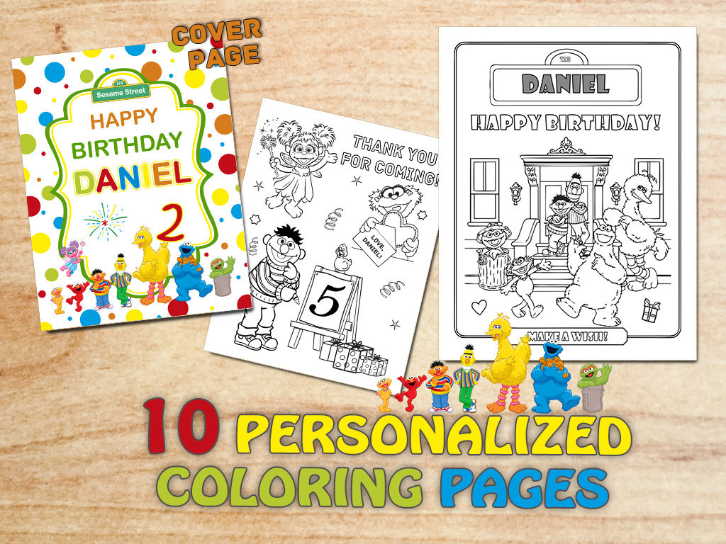 Sesame Street Sign Coloring Page Sesame Street Birthday Party Coloring Pages Sesame Decorations Elmo Printable Sesame Party Gift Bag Digital Pdf