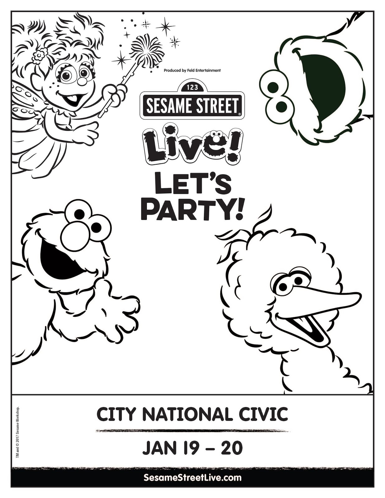 Sesame Street Sign Coloring Page Sesame Street Live Lets Party Coming To The Sf Bay Area Free