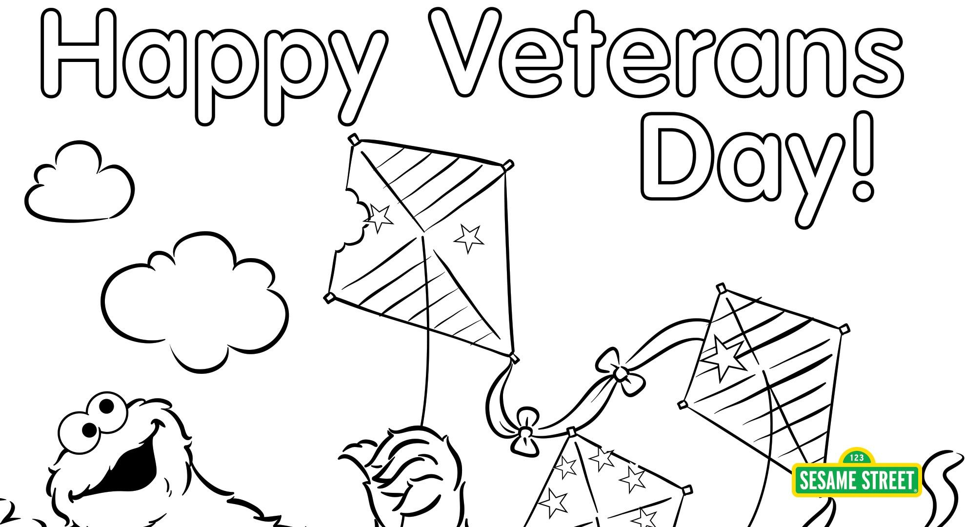 Sesame Street Sign Coloring Page Veterans Day Coloring Page Printable Sesame Street Pbs Learningmedia
