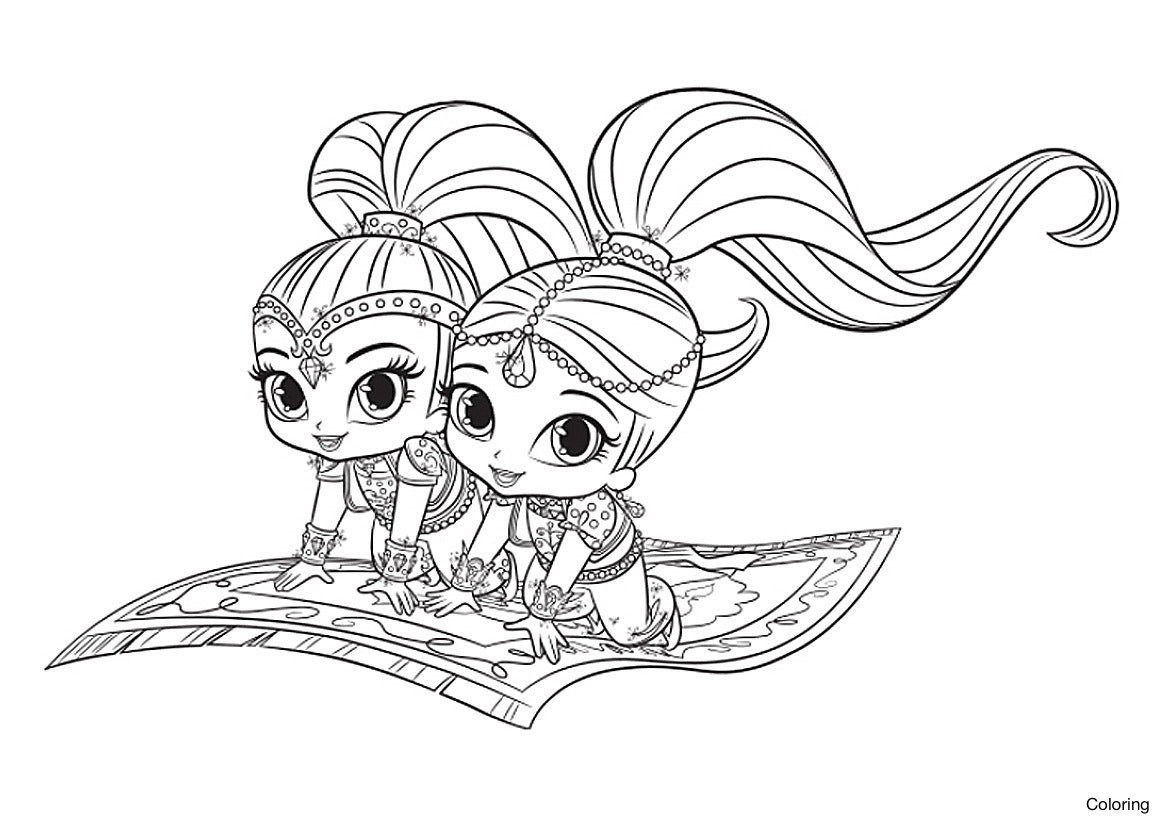 Shimmer And Shine Coloring Pages To Print 20 Fresh Shimmer And Shine Coloring Pages Msainfo