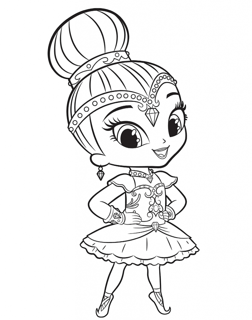 Shimmer And Shine Coloring Pages To Print Coloring Amazing Shimmer And Shine Coloring Book Print Pets Pages