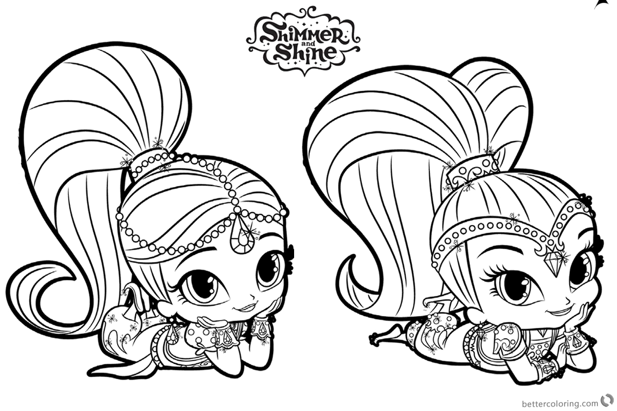 Shimmer And Shine Coloring Pages To Print Coloring Ideas Coloring Shimmer And Shine Ideas Pages For Coloring