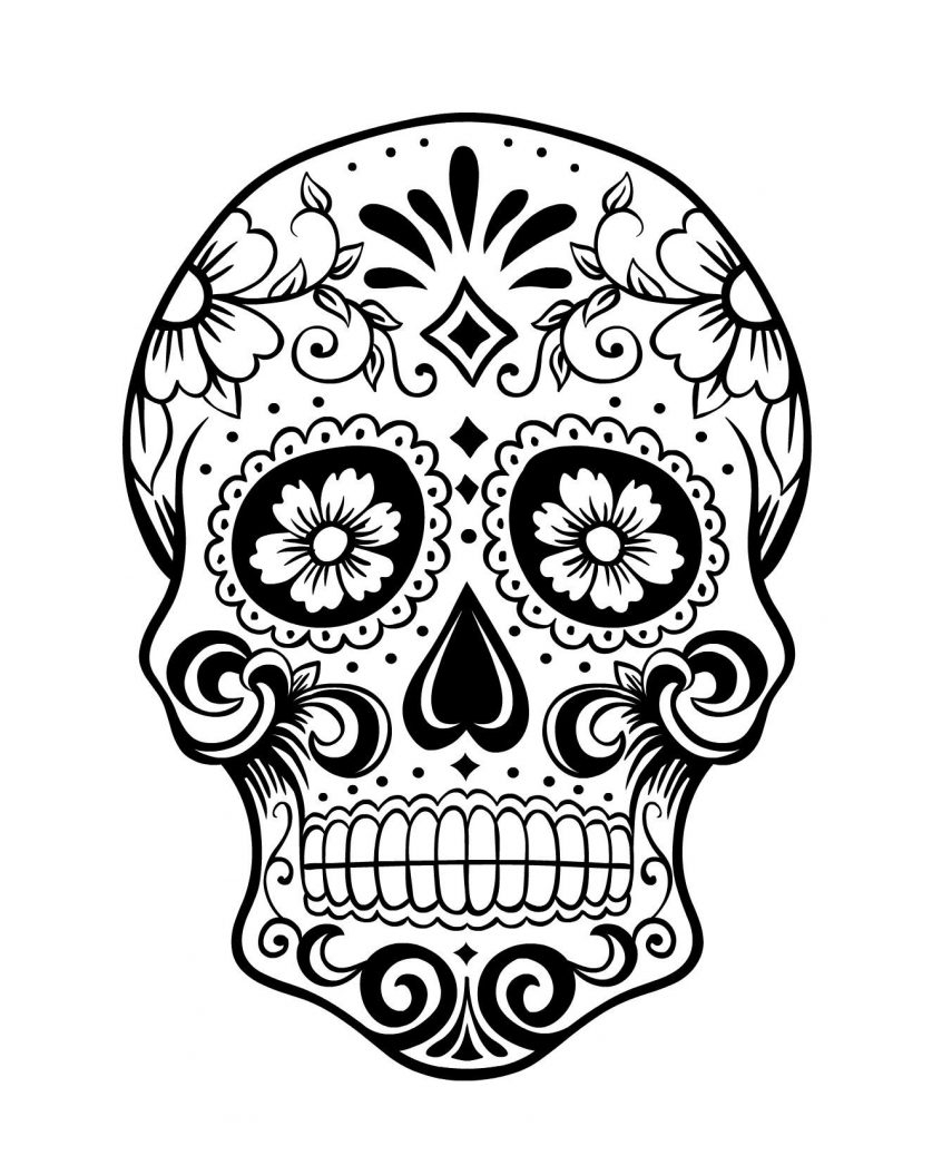 Skull Color Pages Coloring Cooloring Book Free Printable Sugar Skull Coloring Pages