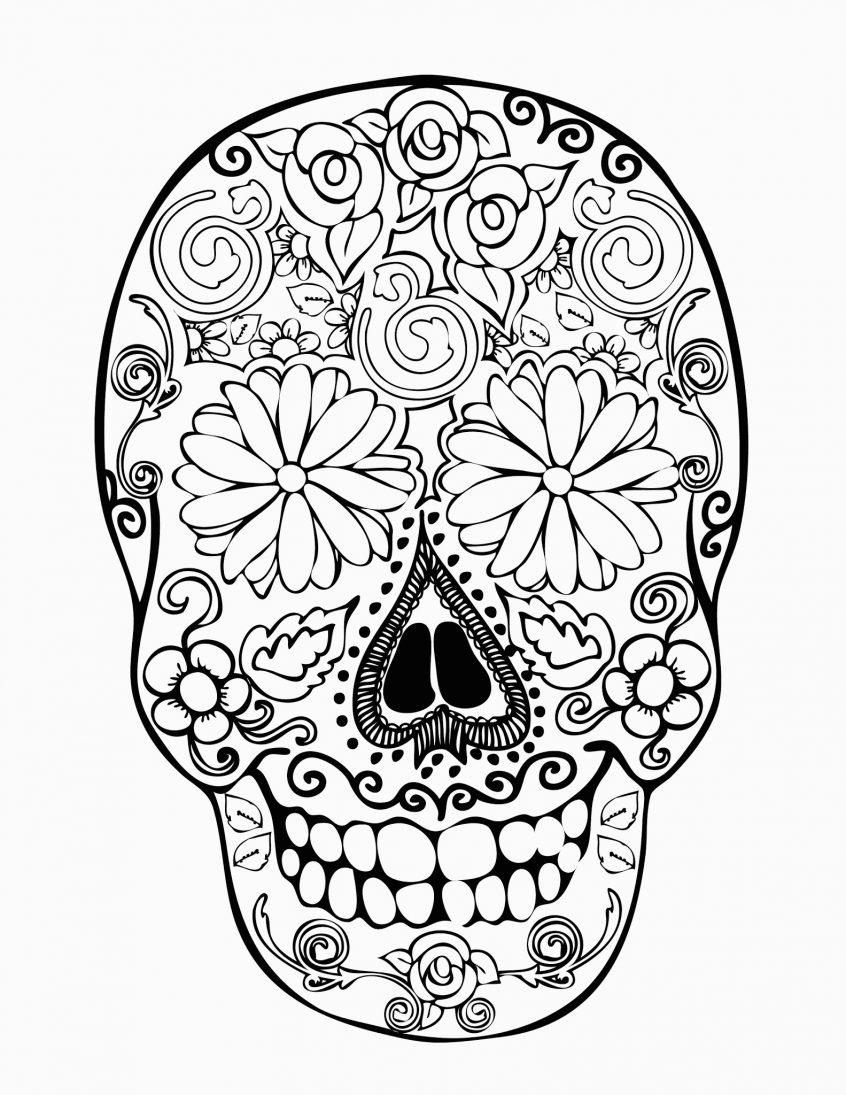 Skull Color Pages Coloring Skull Coloring Pages For Kids Print Color Craft Of Skulls