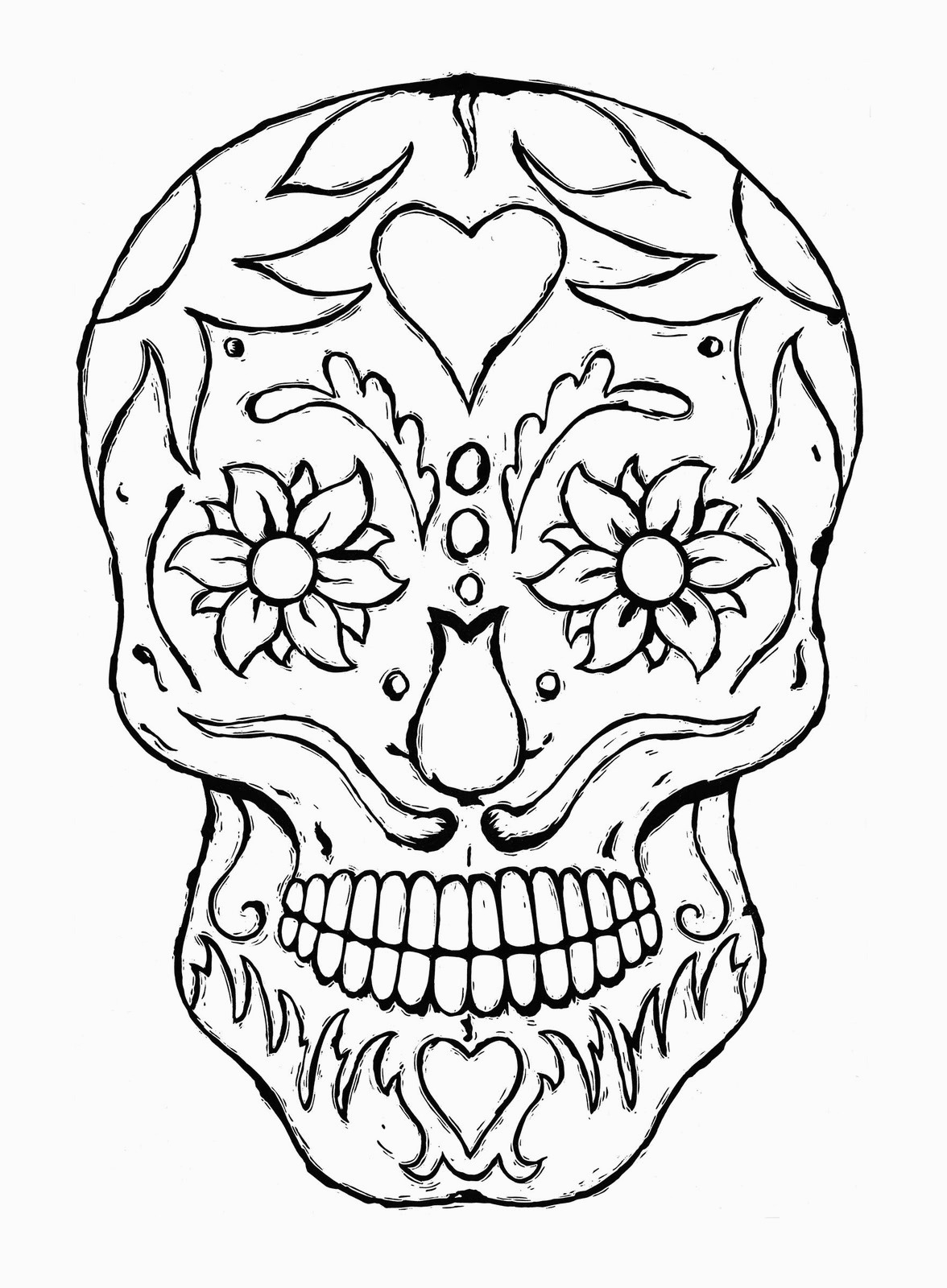 Skull Color Pages Free Printable Skull Coloring Pages For Kids For Coloring Pages Of