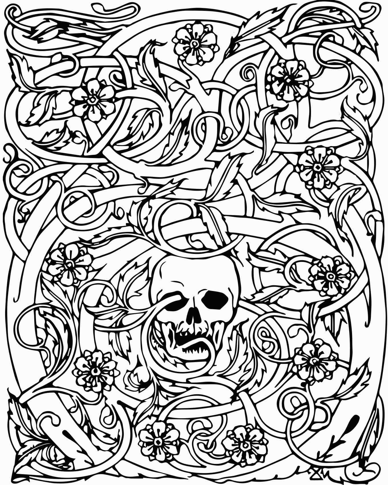 Skull Color Pages Free Printable Skull Coloring Pages For Kids