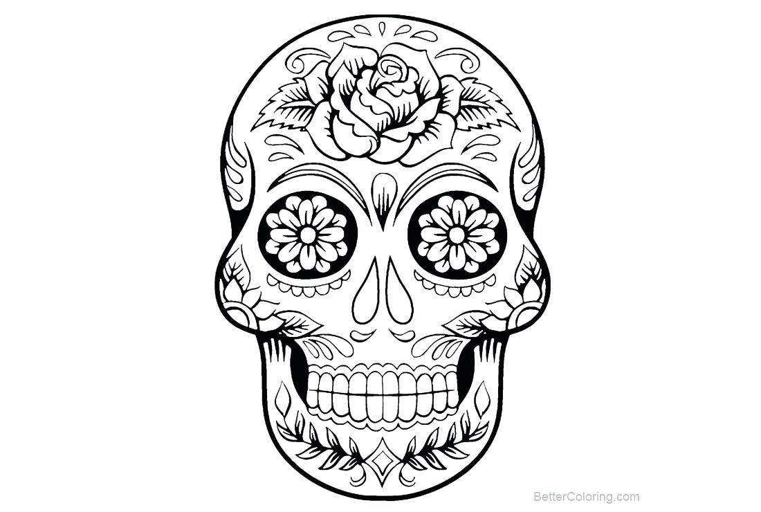 Skull Color Pages Skull Coloring Pages For Kids Safewaysheetco