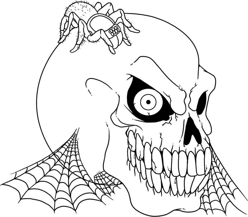 Skull Color Pages Skulls Coloring Pages Skull Kids Outline Free Printable Coloring Pages