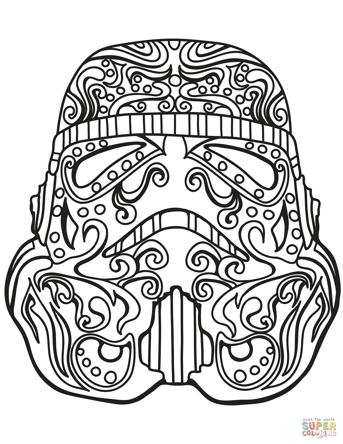 Skull Color Pages Star Wars Stormtrooper Sugar Skull Coloring Page Pages Telematik