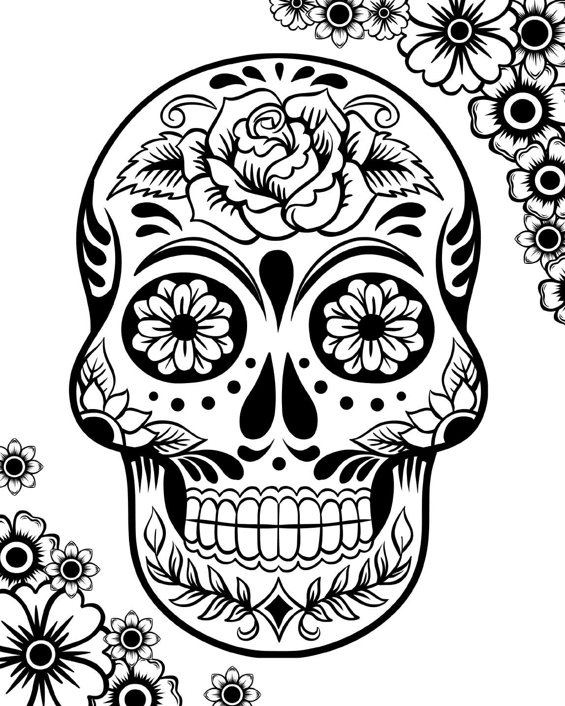 Skull Color Pages Sugar Skull Coloring Pages Best Coloring Pages For Kids