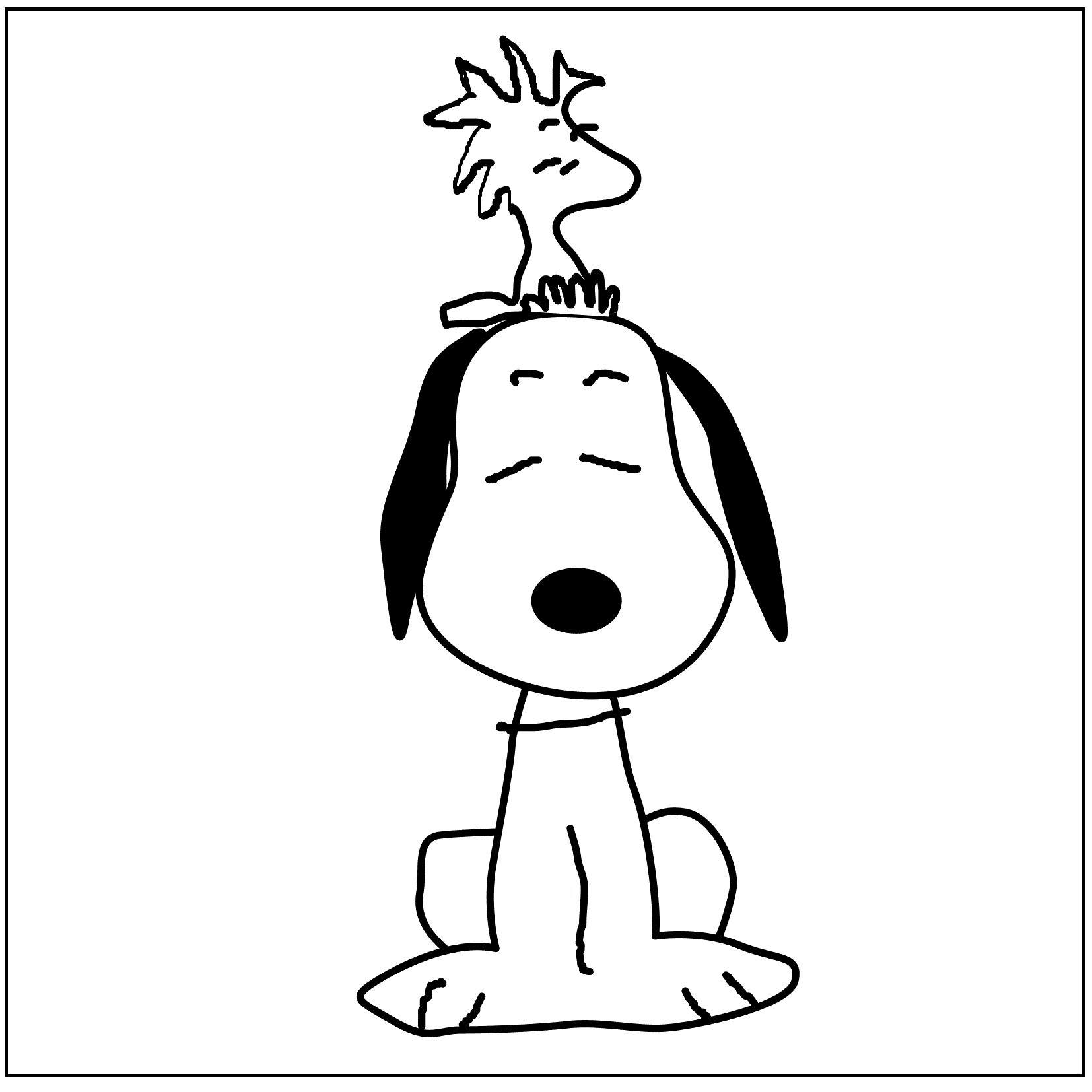 Snoopy And Woodstock Coloring Pages Snoopy And Woodstock Coloring Pages Tingameday