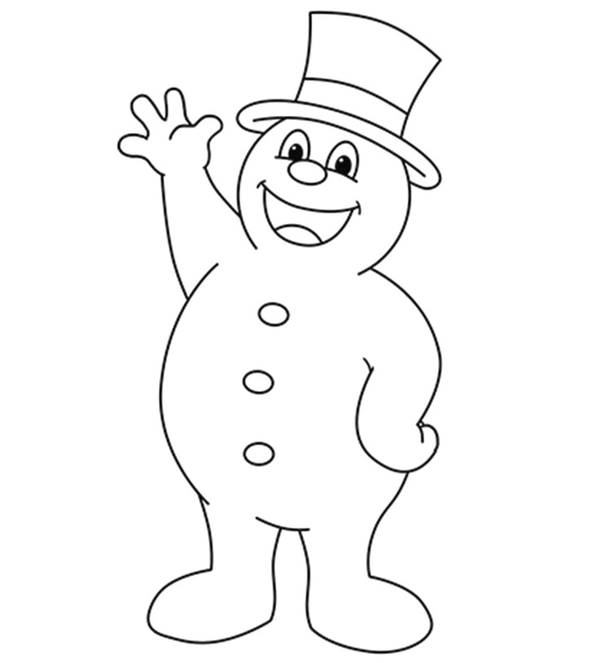 Snowmen Coloring Pages 10 Cute Frosty The Snowman Coloring Pages For Toddlers