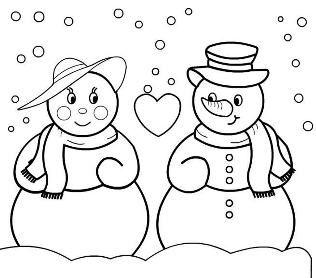 Snowmen Coloring Pages Coloring Pages Christmas Snowman Coloring Pages Free And Printable