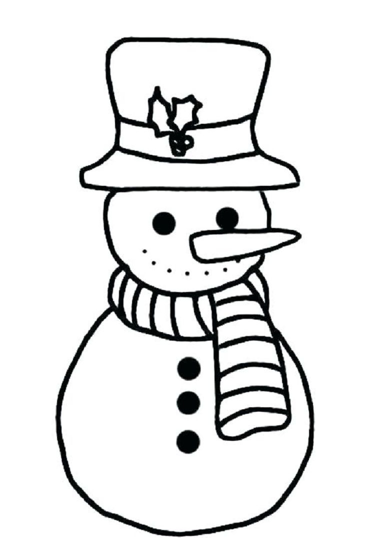 Snowmen Coloring Pages Coloring Snowman Coloring Sheet Simple Pages For Kids Outstanding