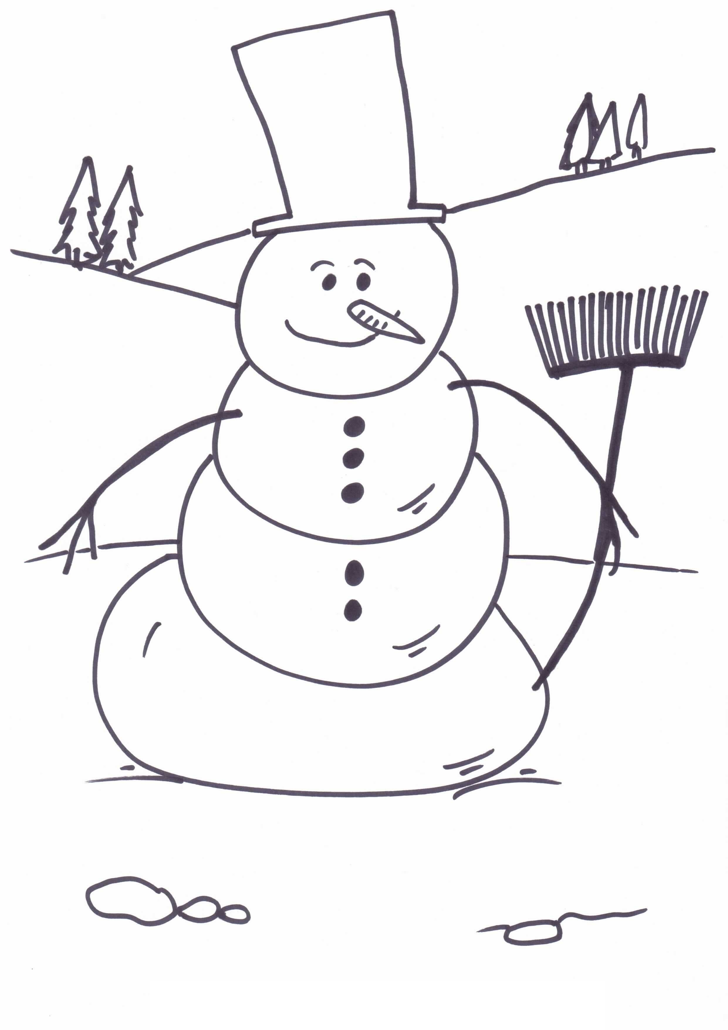 Snowmen Coloring Pages Free Printable Snowman Coloring Pages For Kids