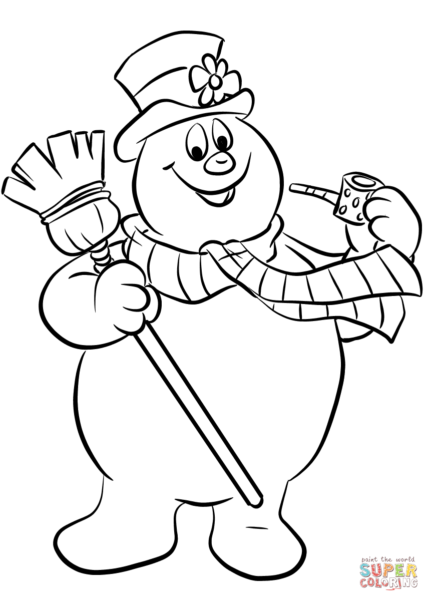 Snowmen Coloring Pages Frosty The Snowman Coloring Page Free Printable Coloring Pages