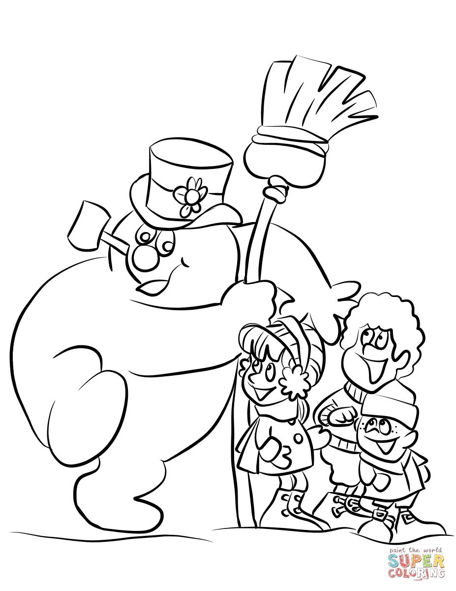 Snowmen Coloring Pages Frosty The Snowman Coloring Pages Free Coloring Pages