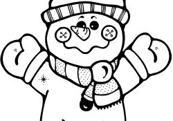 Snowmen Coloring Pages Happy Snowman Coloring Page Free Printable Coloring Pages