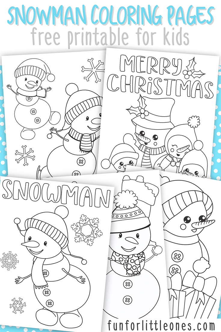 Snowmen Coloring Pages Snowman Coloring Pages For Kids Free Printable Fun For Little Ones