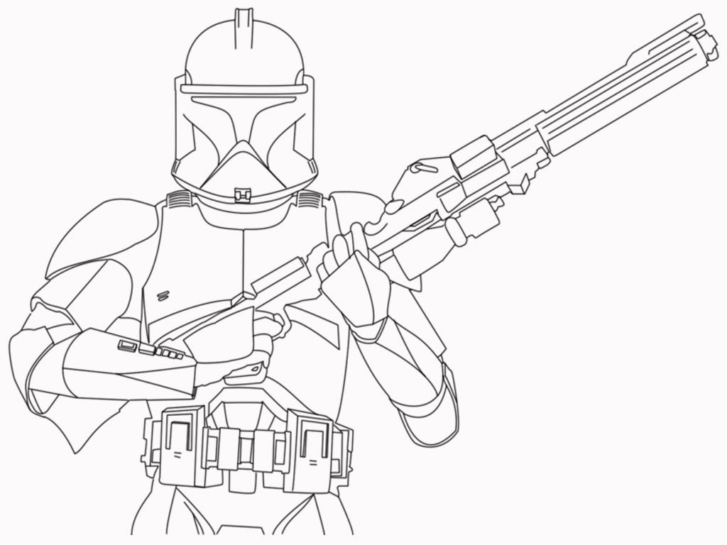 Star Wars Clone Coloring Pages Clone Trooper Coloring Pages
