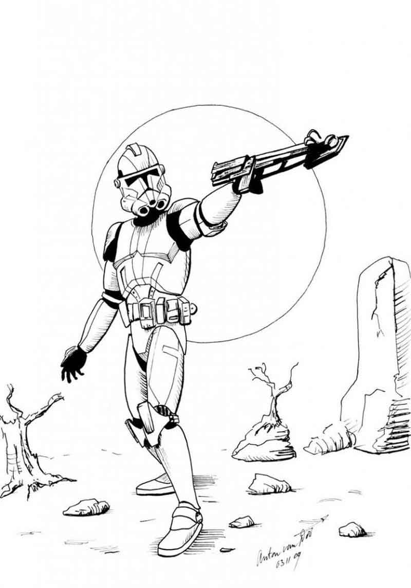 Star Wars Clone Coloring Pages Star Wars Clone Coloring Page Printable Coloring Sheets