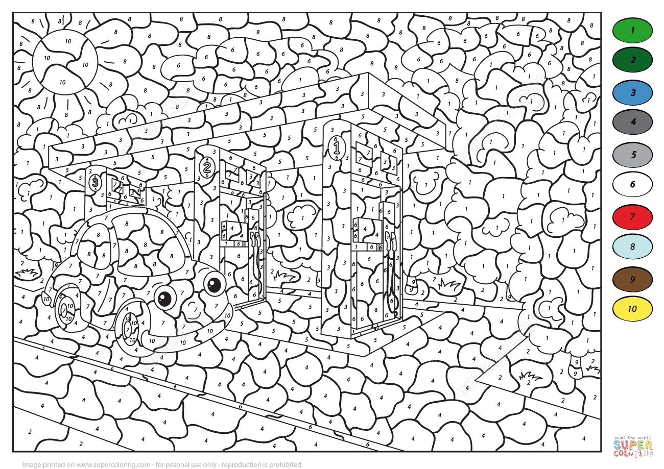 Thanksgiving Color By Number Pages Coloring Pages Coloring Pages For Kids With Numbers Color