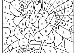Thanksgiving Color By Number Pages Thanksgiving Turkey Color Number Letter Coloring Pages Printable