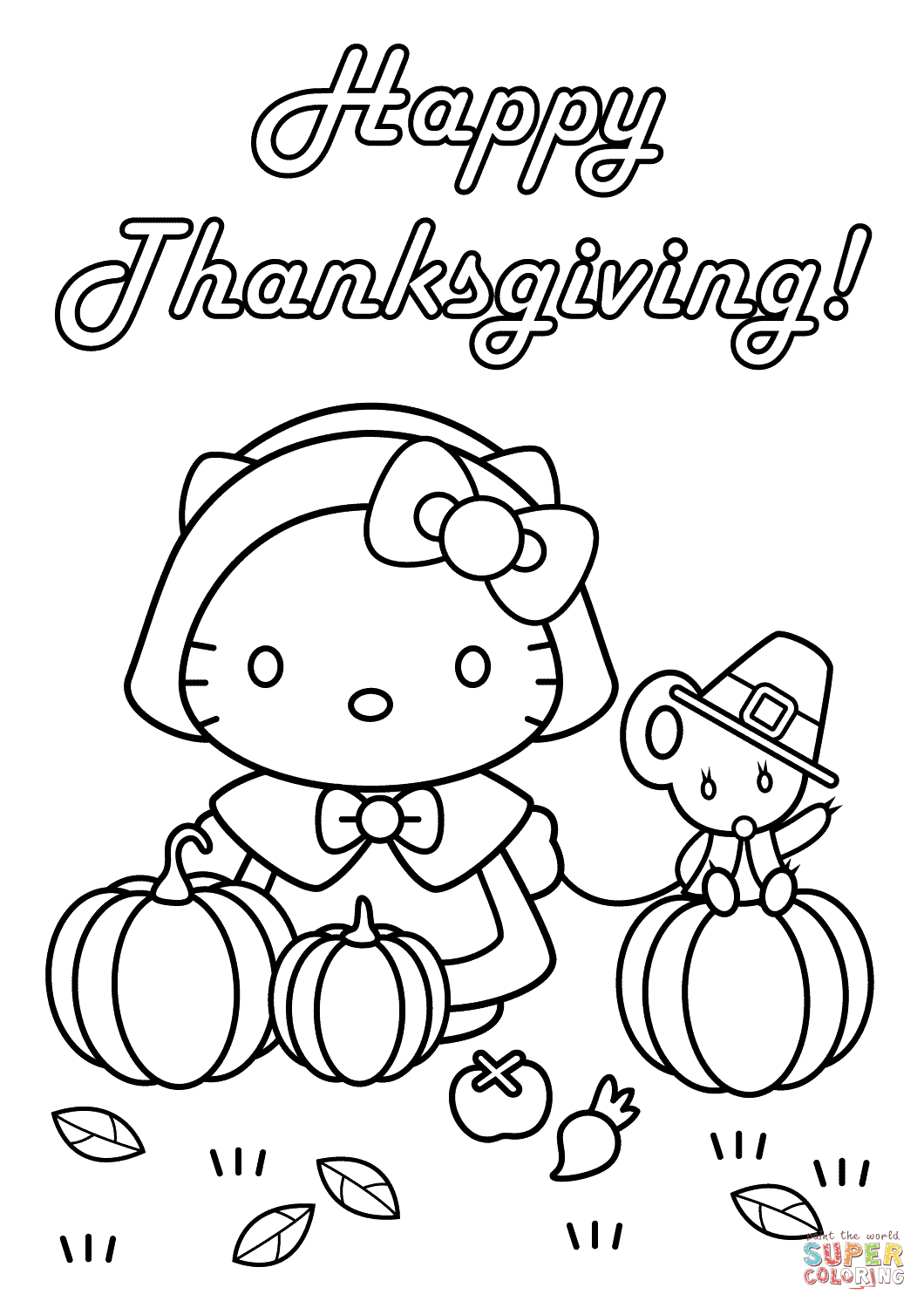 Thanksgiving Coloring Pages For Boys Coloring Pages Hello Kitty Happy Thanksgiving Coloring Page Free