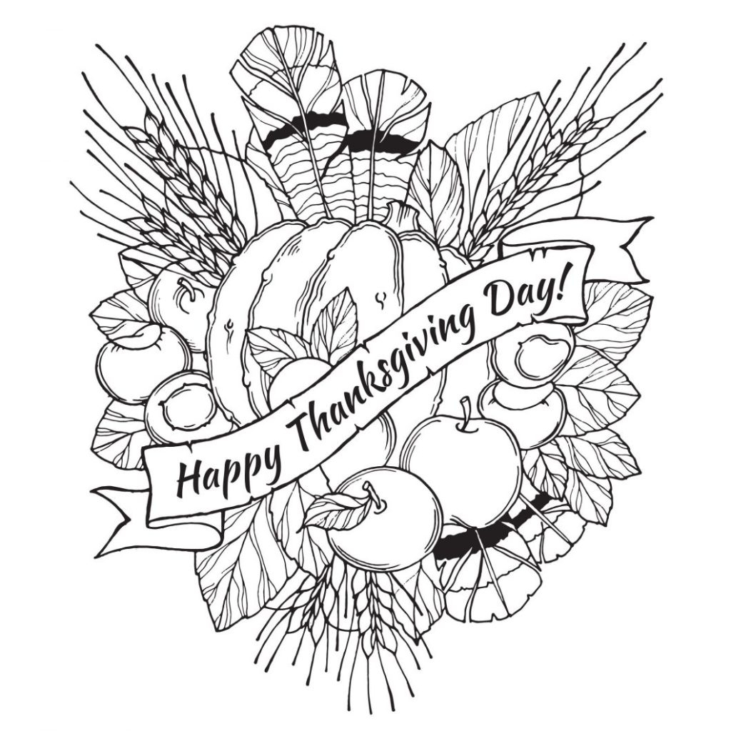 Thanksgiving Day Coloring Pages Free Coloring Book World Free Thanksgiving Coloring Pages With Color