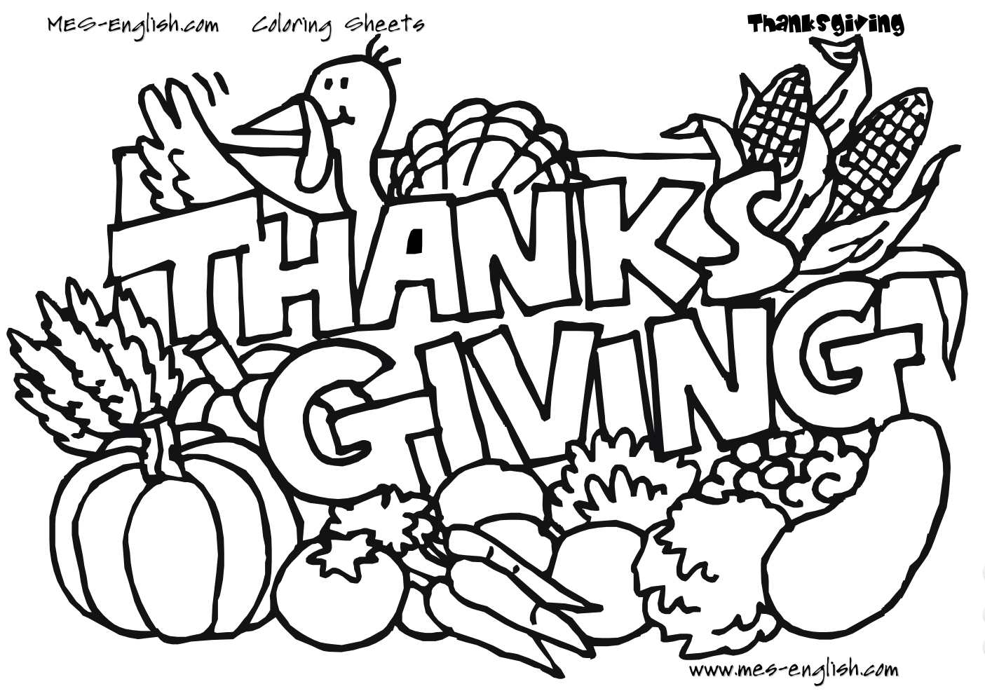 Thanksgiving Day Coloring Pages Free Coloring Pages Kids Thanksgiving Coloring Page Count Your