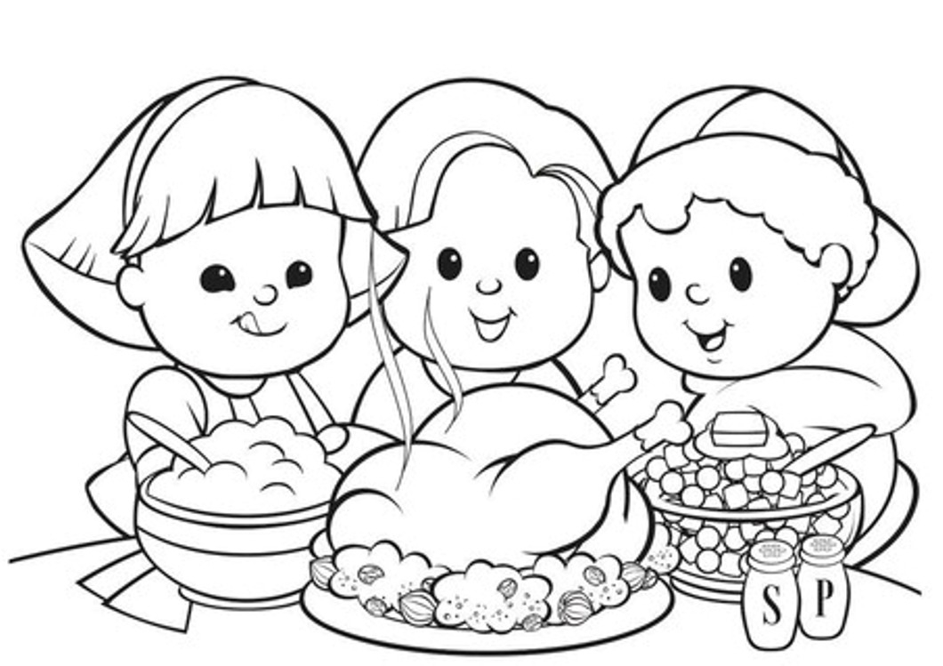 Thanksgiving Day Coloring Pages Free Coloring Thanksgiving Coloring Pages Kids And Food Incredible For