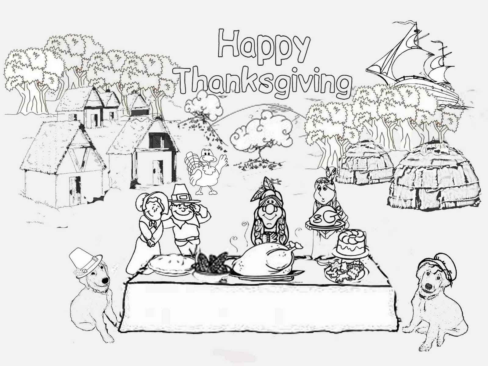 Thanksgiving Day Coloring Pages Free First Thanksgiving Coloring Book Murderthestout