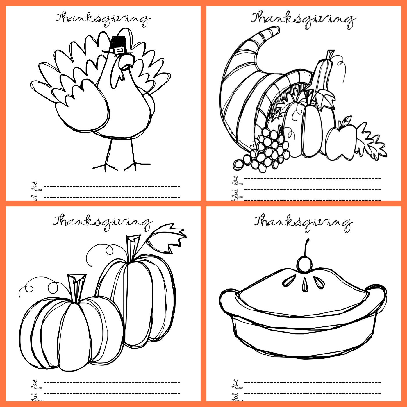 Thanksgiving Day Coloring Pages Free Free Printable Thanksgiving Coloring Pages Lil Luna