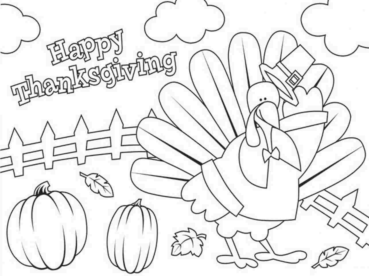 Thanksgiving Day Coloring Pages Free New Printable Happy Thanksgiving Coloring Pages Built Imagination