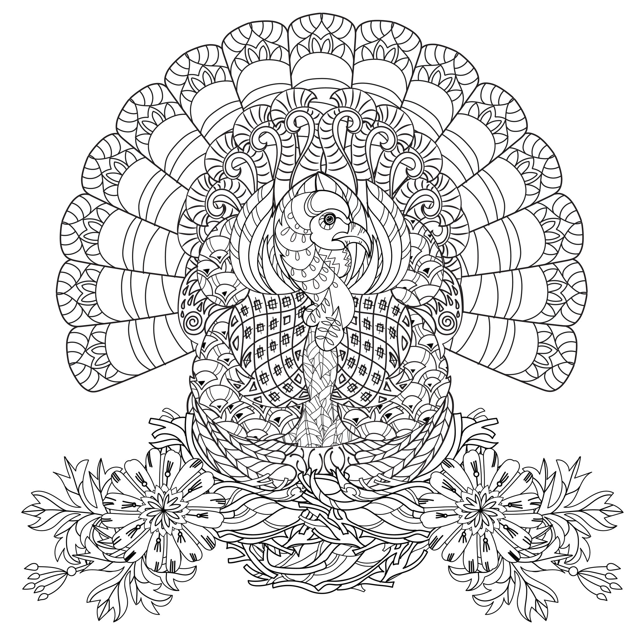 Thanksgiving Day Coloring Pages Free Thanksgiving Turkey Thanksgiving Adult Coloring Pages