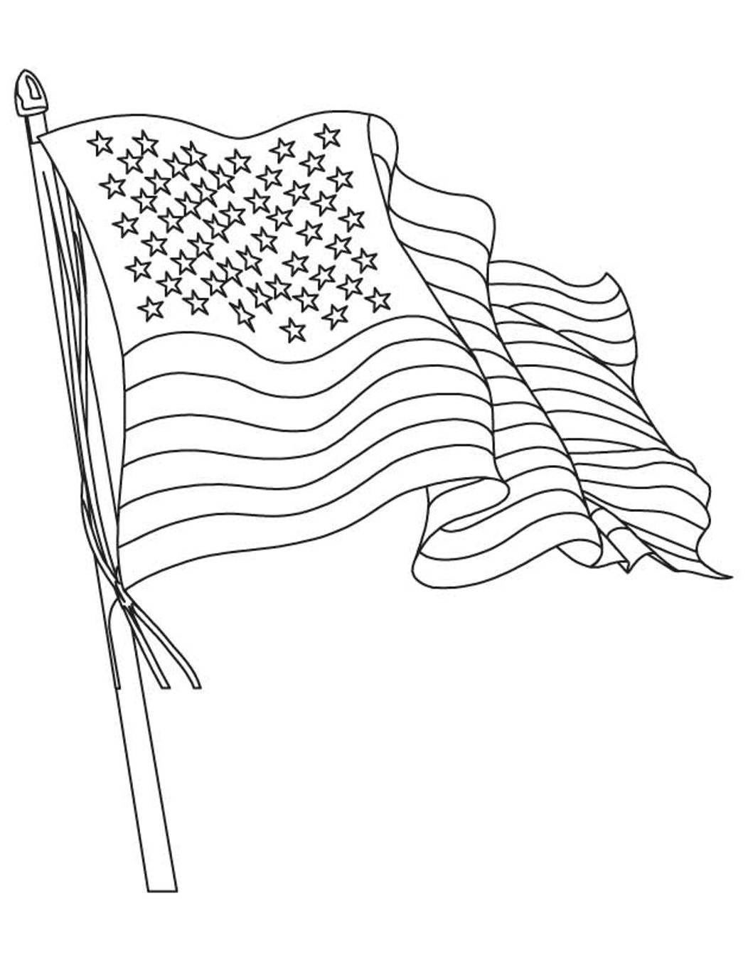The American Flag Coloring Page American Flag Coloring Page Waving Flag Flags Coloring Pages Of