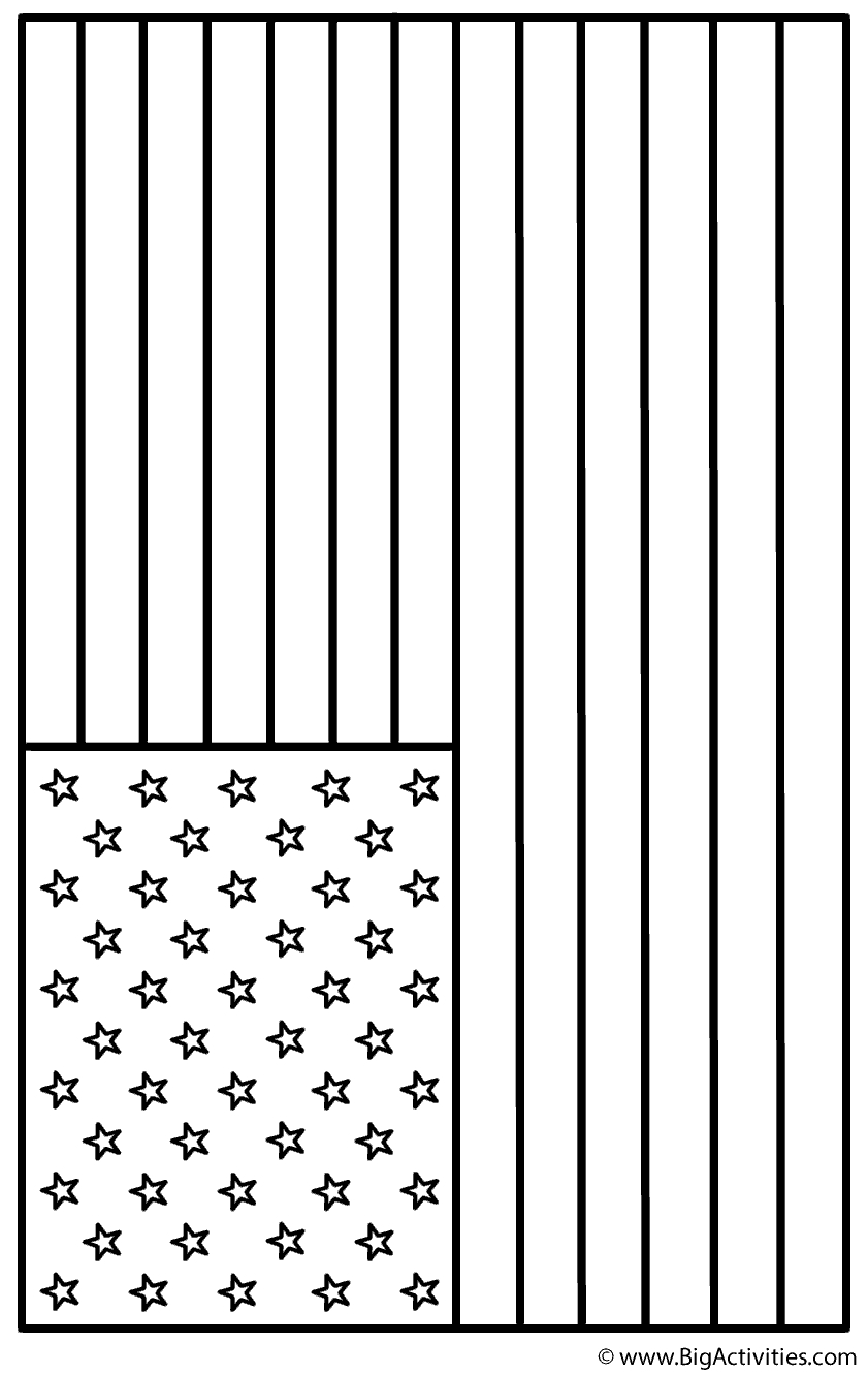The American Flag Coloring Page American Flag Landscape Coloring Page Memorial Day