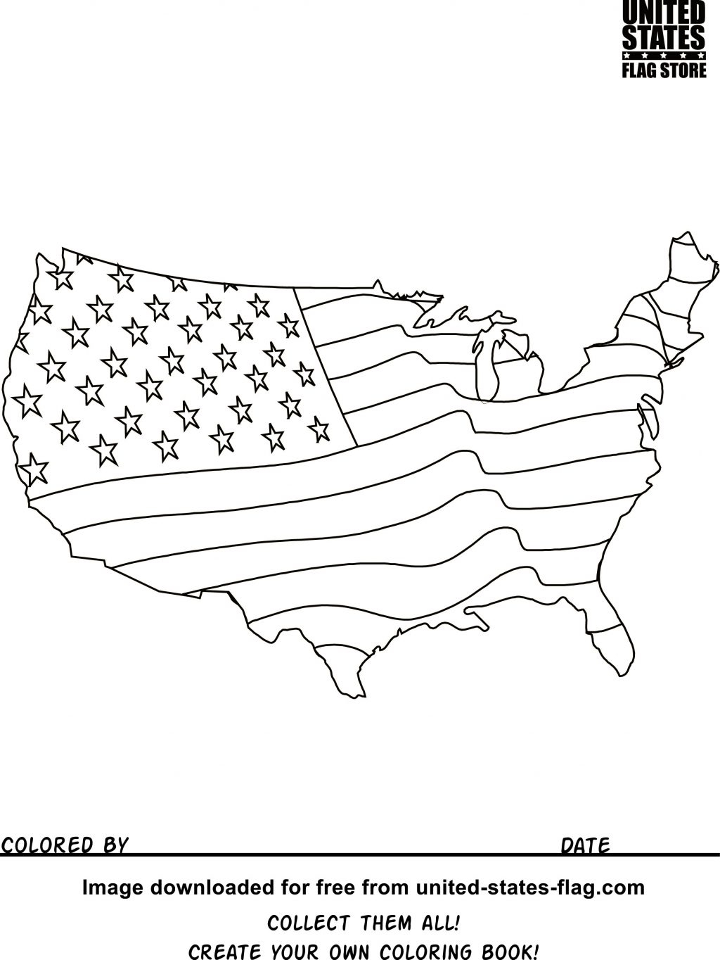 The American Flag Coloring Page Coloring Ideas Free American Flag Coloring Pages Veterans Day