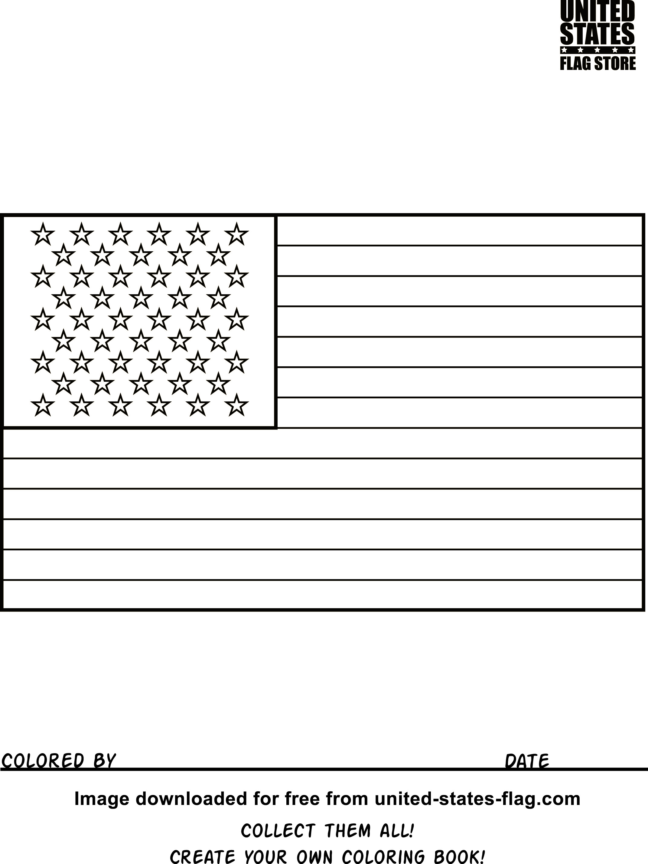 The American Flag Coloring Page Coloring Pages And Books Free American Flag Coloring Pages