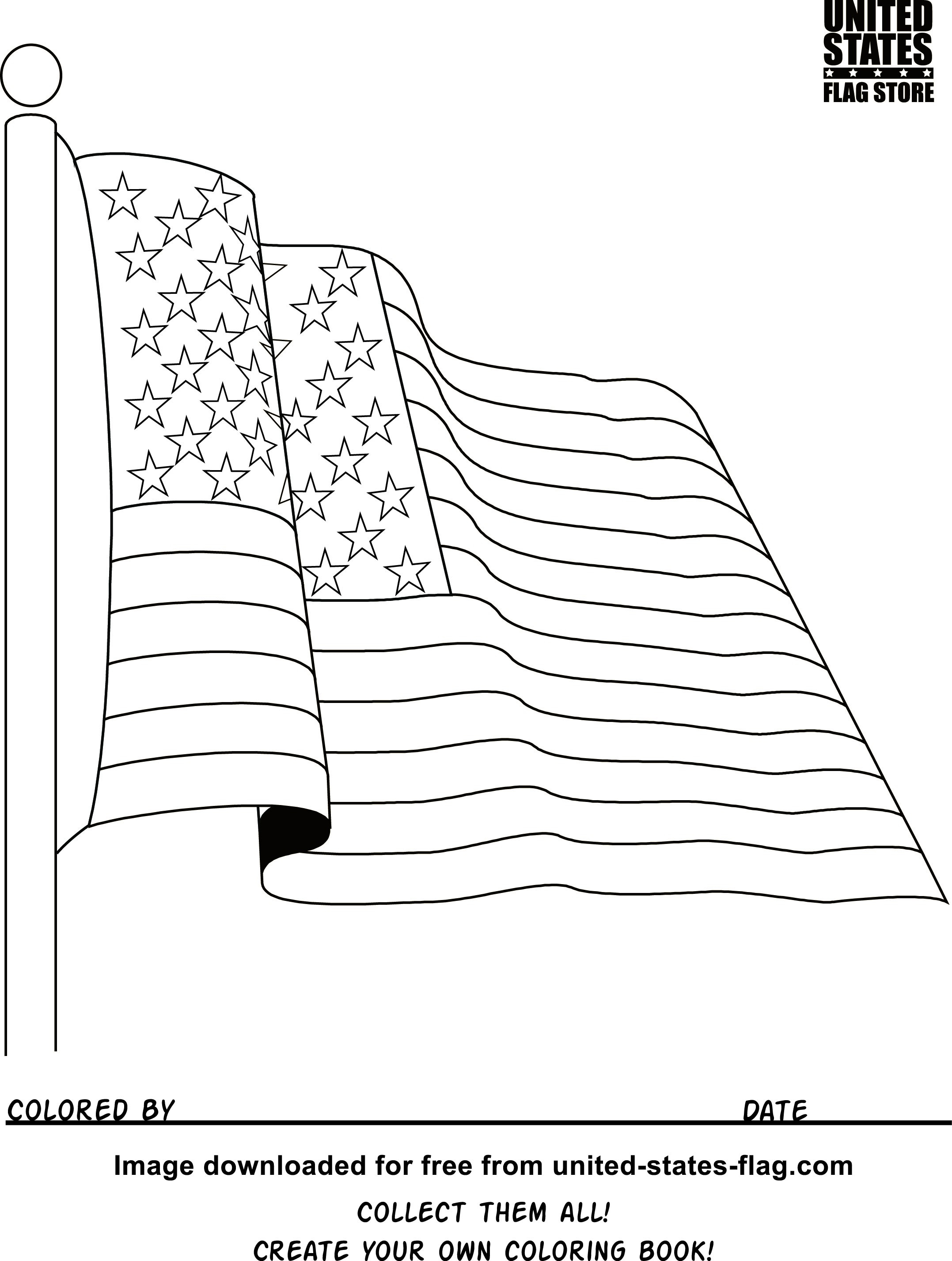 The American Flag Coloring Page Free American Flag Coloring Pages For Flag Coloring Pages Get