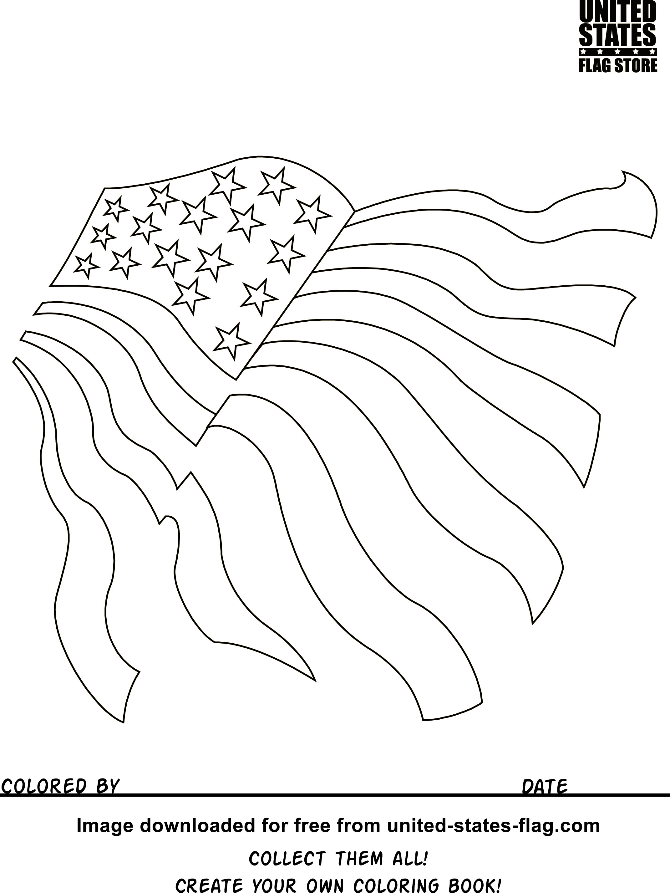 The American Flag Coloring Page Free American Flag Coloring Pages