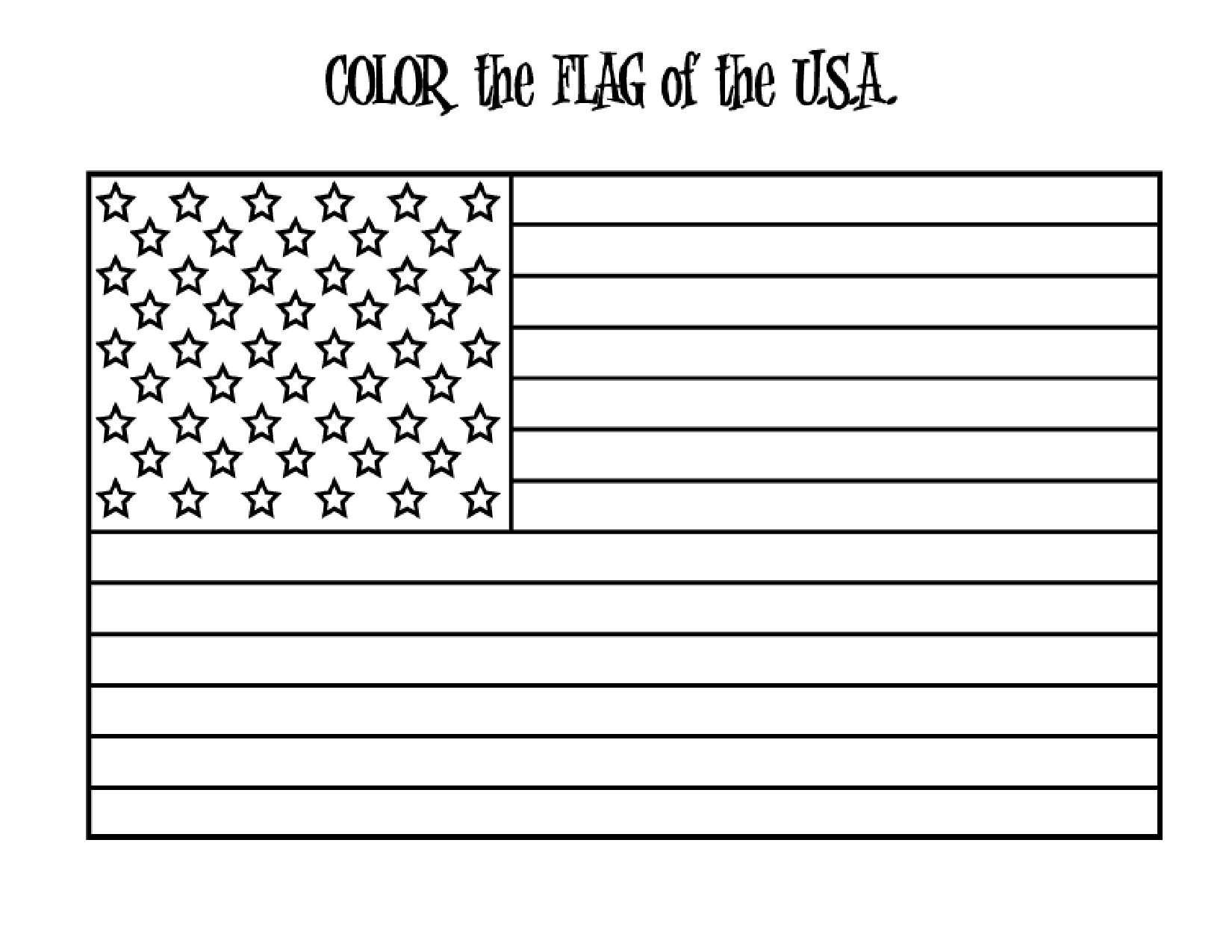 The American Flag Coloring Page Free American Flag Printable Download Free Clip Art Free Clip Art